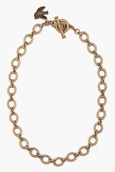 Marc By Marc Jacobs Gold Flight Charm Necklace
