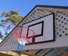 make your own basketball backboard and ring.