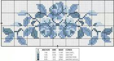 . Cross Stitch Borders, Cross Stitch Rose, Cross Stitch Flowers, Cross Stitch Designs, Cross Stitching, Cross Stitch Embroidery, Hand Embroidery, Cross Stitch Patterns, Embroidery Designs