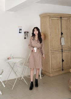 Casual Outfits, Fashion Outfits, Korean Dress, Feminine, Ootd, Formal, Skirts, Clothes, Collection
