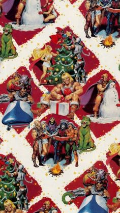 Masters of the Universe Christmas wrapping paper
