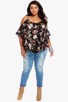 Plus Size Magnolia Cold Shoulder Top | Fashion To Figure