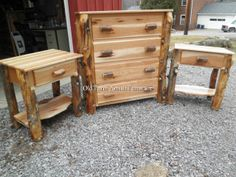 Aspen Log Chest of Drawers Old Farm Amish Furniture - Dayton, PA (814) 257-8911 oldfarmfurniture@aol.com Visit our Facebook Page