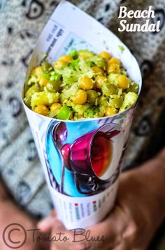 Stir fry with green peas, coconut and raw mango- guilt free snacking during chai time