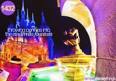 Bucket List Orlando - Throw pennies into Cinderella's fountain
