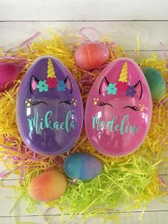 Easter Basket Ideas - Trend Topic For You 2020 Large Plastic Easter Eggs, Jumbo Easter Eggs, Easter Egg Basket, Pink Plastic, Egg Crafts, Easter Crafts, Easter Egg Designs, Easter Ideas, Easter Gift