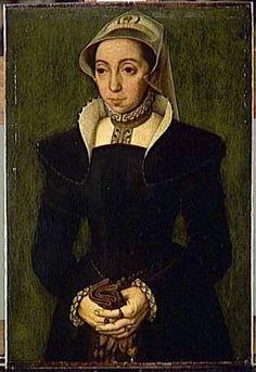 A Woman, ca. 1550  (Catharina de Hemmesen?) (1528- 1587)   Musée du Louvre, Paris    R.F. 2179