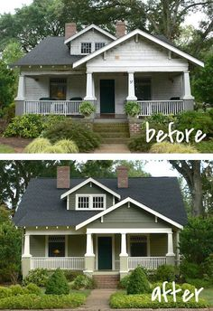 And this house was totally basic until it got some makeup.