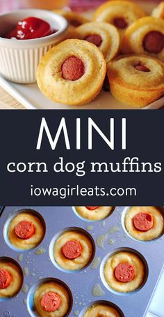 The original Mini Corn Dog Muffins! These fun and poppable bites are perfect for snack time, dinner, or game day. Kids love them too!   iowagirleats.com keywords: appetizer recipes, appetizer recipes easy, corn dog mini muffins, corn dogs, kid friendly meals Appetizers For Kids, Best Appetizer Recipes, Baby Food Recipes, Snack Recipes, Kid Recipes, Corn Dog Muffins, Mini Muffins, Corn Dog Bites Recipe, Corndog Recipe
