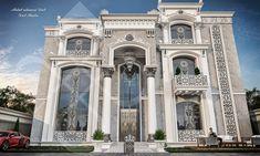 Dieb Studio - Abdulrahman Dieb Classic House Design, Front Elevation, Studio, Palace, House Plans, Villa, Castle, Behance, Mansions