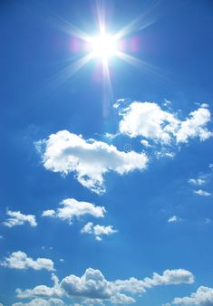 Sun and clouds in a sky. Sun and clouds in a blue sky. Blue Sky Wallpaper, Paradise Wallpaper, Of Wallpaper, Photo Background Images, Blue Sky Background, Photo Backgrounds, Blue Sky Clouds, Sun And Clouds, Blue Skies