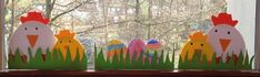 KLASSENKUNST: Fensterbild Ostern