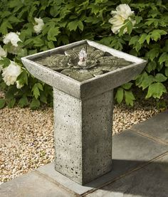 Occupy a small patio space with the Andra Fountain.