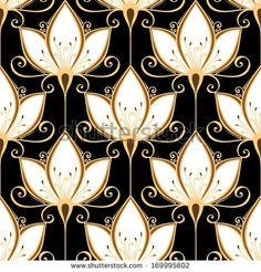 Find Seamless Ornate Floral Pattern (Vector) stock vectors and royalty free photos in HD. Explore millions of stock photos, images, illustrations, and vectors in the Shutterstock creative collection. Motifs Art Nouveau, Motif Art Deco, Art Deco Pattern, Art Deco Design, Floral Pattern Vector, Motif Floral, Floral Texture, Flores Art Deco, Wallpaper Art Deco