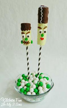 Kitchen Fun With My 3 Sons: Frankenstein & His Bride Banana Yogurt Pops