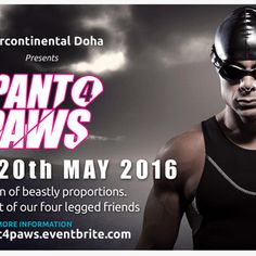 Pant 4 PAWS 2016 Triathlon - It takes a Village - PAWS Animal Rescue shelters, medicates, feeds and rehomes Qatar's abused and abandoned animals. The Pant for PAWS 2016 Triathlon aims to raise sufficient funds to cover the unforgiving summer months when temperatures soar and donations are almost zero.