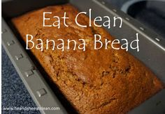 He and She Eat Clean: Clean Eat Recipe :: Eat Clean Banana Bread **DONE *love!* *when making as muffins, bake minutes. Clean Banana Bread, Healthy Banana Bread, Banana Bread Recipes, Clean Eating Recipes, Cooking Recipes, Healthy Recipes, Eating Clean, Healthy Eating, Healthy Foods