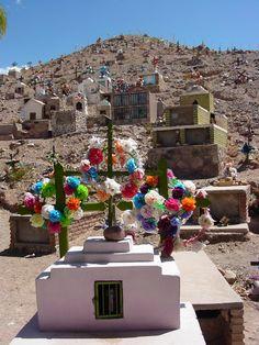 Hillside cemetery, Maimara, Argentina