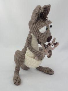 (4) Name: 'Crocheting : Kanga Roo and Baby Roo Amigurumi Crochet