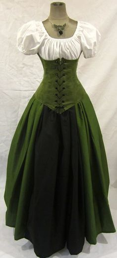 greensuede - medieval wench garb renaissance wench  wish my lifestyle would allow for wearing these types of dresses: