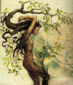 Tree spirit. *~A World of Pure Imagination~* From phoenix-warrior on Tumblr