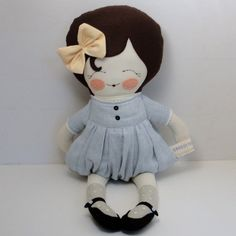 So sweet!  Like the black apple doll...a free doll pattern.