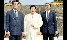 Alberto Fujimori y Rosa Fujimori, junto al esposo de esta, Víctor Aritomi