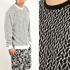 Tops - ROPE PATTERN ROUND BOXY BANDED HEM TEE - 387 for only 19.00 !!!