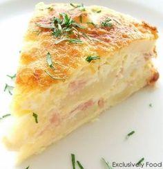 Ham, Egg and Potato Bake with Cheddar and Parmesan....