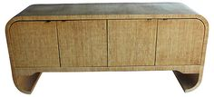 One Kings Lane - grasscloth credenza