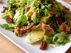KITCHEN FIDDLER : Shredded Brussels Sprouts Sauté With Bacon and Pecans