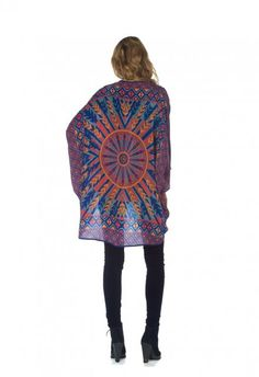 Shara-Apache  One size fits all, Tolani Kimono is made from 100% silk.