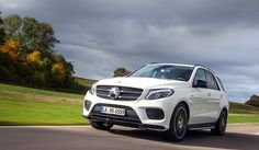 The GLE 450 AMG 4MATIC on the road.