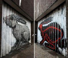 Street art: il mondo animale nell'architettura - Econote.it