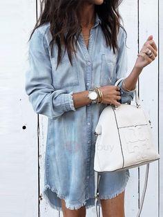 VERO MODA Femme Robe Shirt Robe Courte Mini Basic Chemise longue robe d/'été Color Mix
