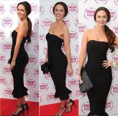 Clothing : Bandage Dresses : 'Fabrizia' Black Bandage Strapless Fluted-Hem Dress