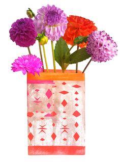 Unique flower vase handmade by kira-cph.com