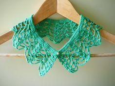 mint crochet collar