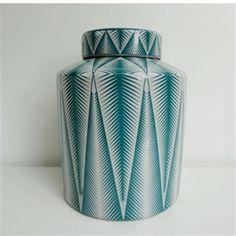 ceramics - Bamboo Design Turquoise/White