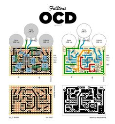 Perf and PCB Effects Layouts: Fulltone OCD - Version 1