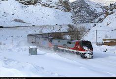 RailPictures.Net Photo: AMTK 42 Amtrak GE P42DC at Near Helper, Utah by Dick Ebright