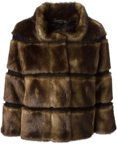 $725, Dark Brown Fur Jacket: Seventy Faux Fur Jacket. Sold by farfetch.com. Click for more info: https://lookastic.com/women/shop_items/119016/redirect