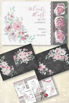 Blush, pink and grey roses in watercolor - set of 4 sprays. Available in my shop for $2.50 #watercolors #watercolorclipart #clipart #floralclipart #sprays #watercolorsprays #roses #blushroses #pinkroses Grey Roses, Blush Flowers, Pink Roses, Wreath Watercolor, Watercolor Flowers, Blush And Grey, Blush Pink, All Paper, Sprays