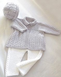 OGE Knitwear Designs - P047 - Quick knit baby jacket, hat and matching pants (birth - age 1)