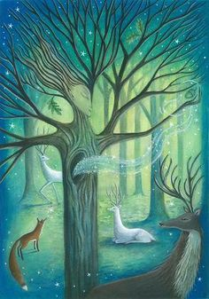 In most shamanic cultures, trees act as bridges to the Other Worlds.