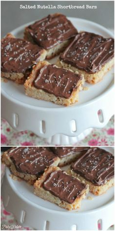 Salted Nutella Shortbread Bars!