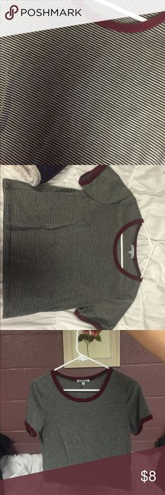 Charlotte Russe, Striped Crop Top Great condition! Thin. Slightly cropped. Charlotte Russe Tops Crop Tops