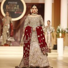 Pakistani Bridal Gown Lovely Pin by Pinky On Bridal In 2019 Indian Wedding Party Dresses, Latest Bridal Dresses, Asian Wedding Dress, Pakistani Wedding Outfits, Luxury Wedding Dress, Wedding Dresses For Girls, Pakistani Dresses, Bridal Gowns, Pakistani Suits