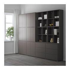 EKET Kastencombinatie met doppen - donkergrijs - IKEA