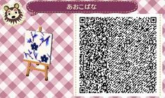 Animal Crossing New Leaf QR Code, Lovely purple flower pattern suitable for clothing, wallpaper, or furniture